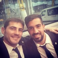 Iker Casillas y Fernando Pacheco rumbo al Mundial de Clubes. Foto:twitter.com/CasillasWorld