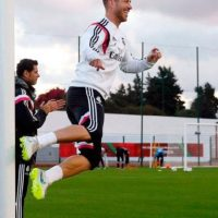 El buen ánimo en el entrenamiento del Real Madrid. Foto:twitter.com/realmadrid