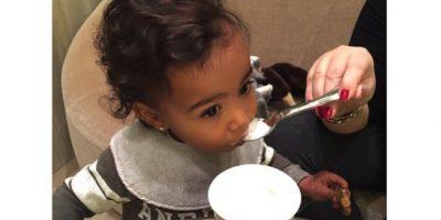 La primera vez que probó la crema batida. Foto:Instagram/Kim Kardashian