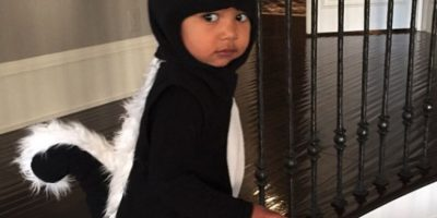 Cuando se disfrazó como un adorable zorrillo. Foto:Instagram/Kim Kardashian