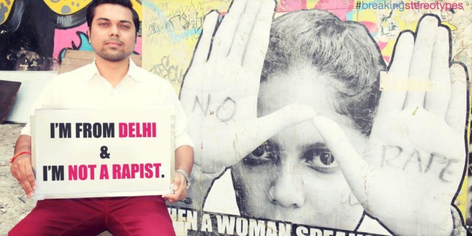 """""""Soy indio y no soy violador"""" Foto:Truly Madly"""