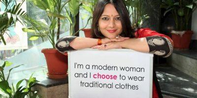 """""""Soy una mujer moderna pero quiero usar ropas tradicionales"""" Foto:Truly Madly"""