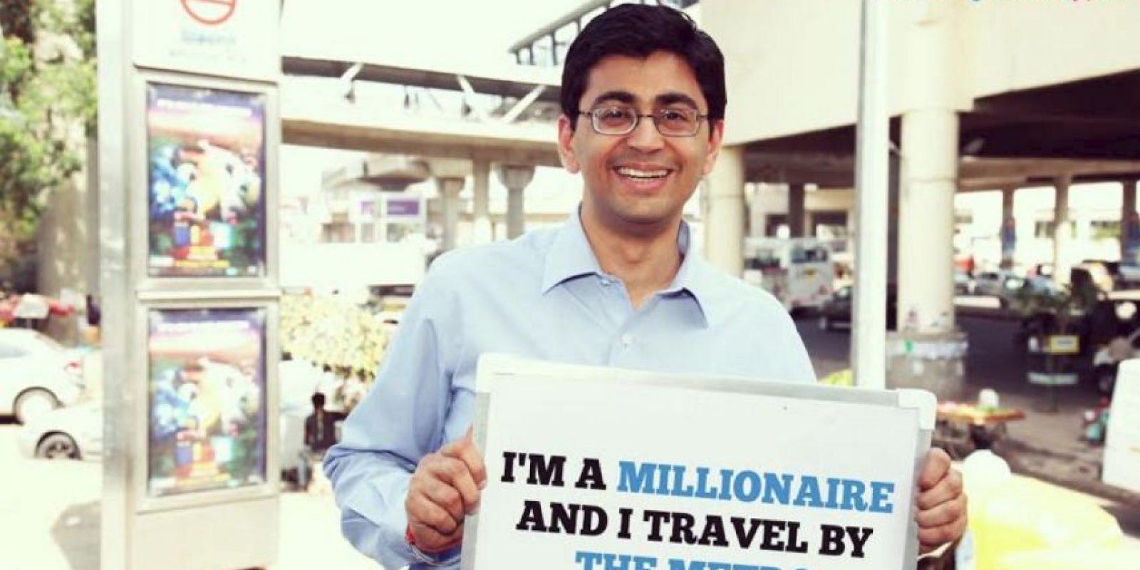"""""""Soy millonario y viajo en el metro"""" Foto:Truly Madly"""