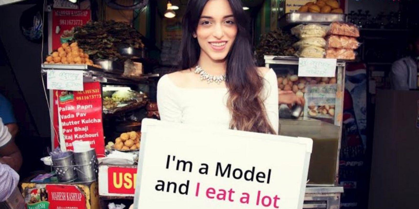 """""""Soy una modelo y como"""" Foto:Truly Madly"""