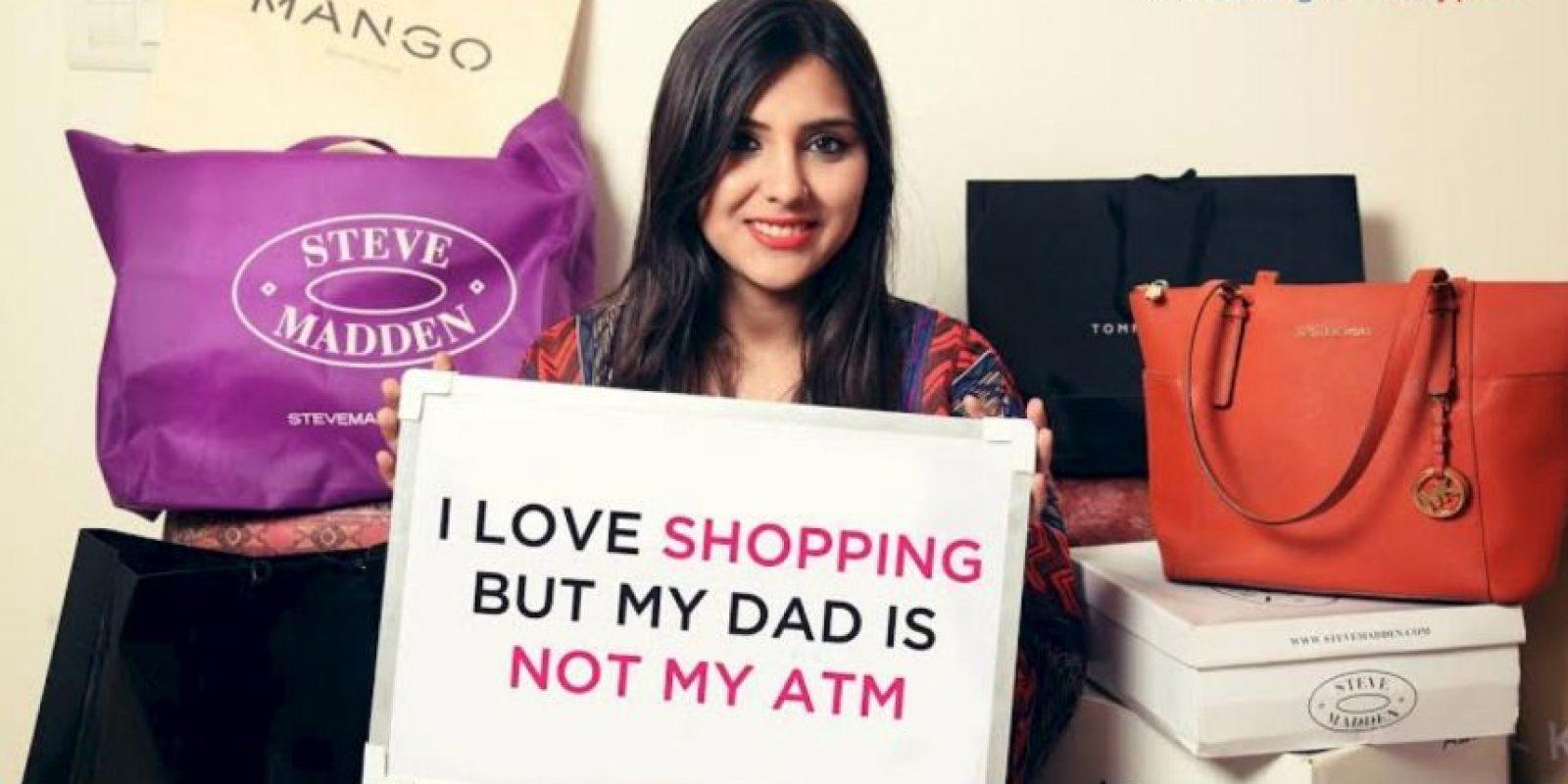 """""""Amo comprar, pero mi papá no es mi tarjeta de crédito"""" Foto:Truly Madly"""