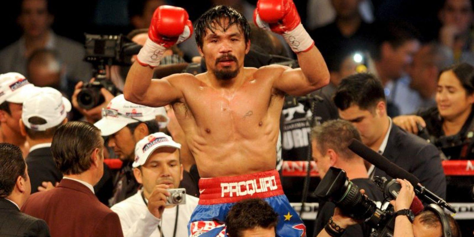 Este 17 de diciembre cumple 36 años el boxeador filipino Foto:Getty