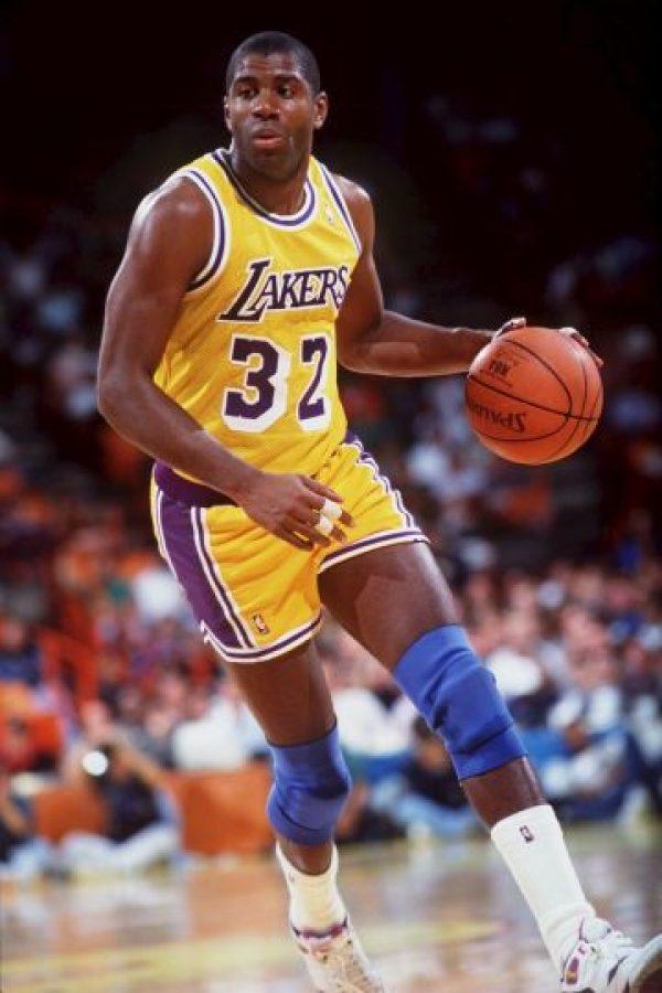 Magic Johnson tiene 55 años de edad. Foto:Getty Images