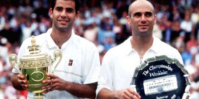 Pete Sampras y Andre Agassi. Foto: Getty Images
