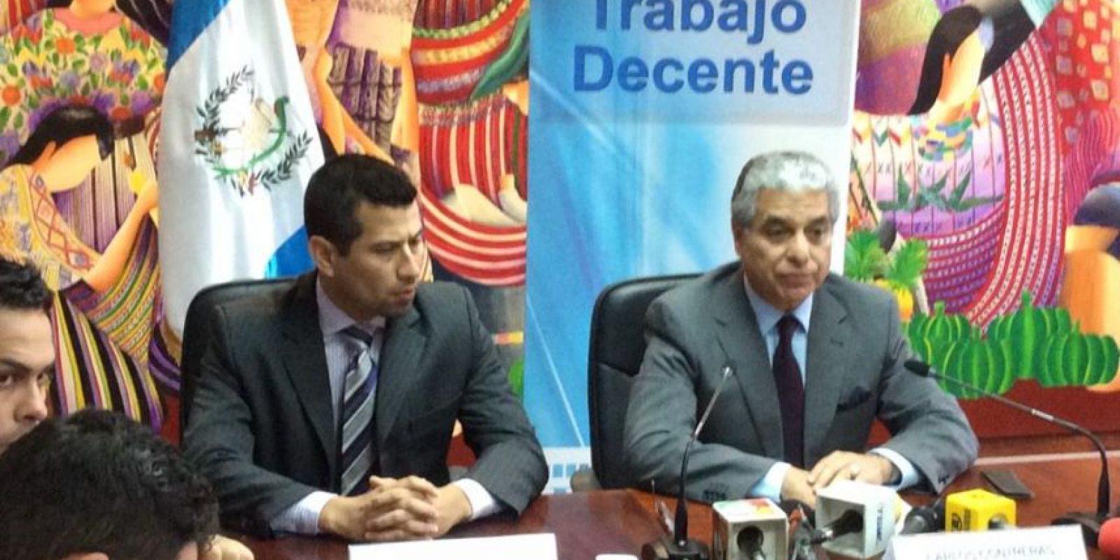 Salario minimo se acerca a los Q. 80.00 diarios, declara el ministro de Trabajo, Carlos Contreras. Foto:Ministerio de Trabajo
