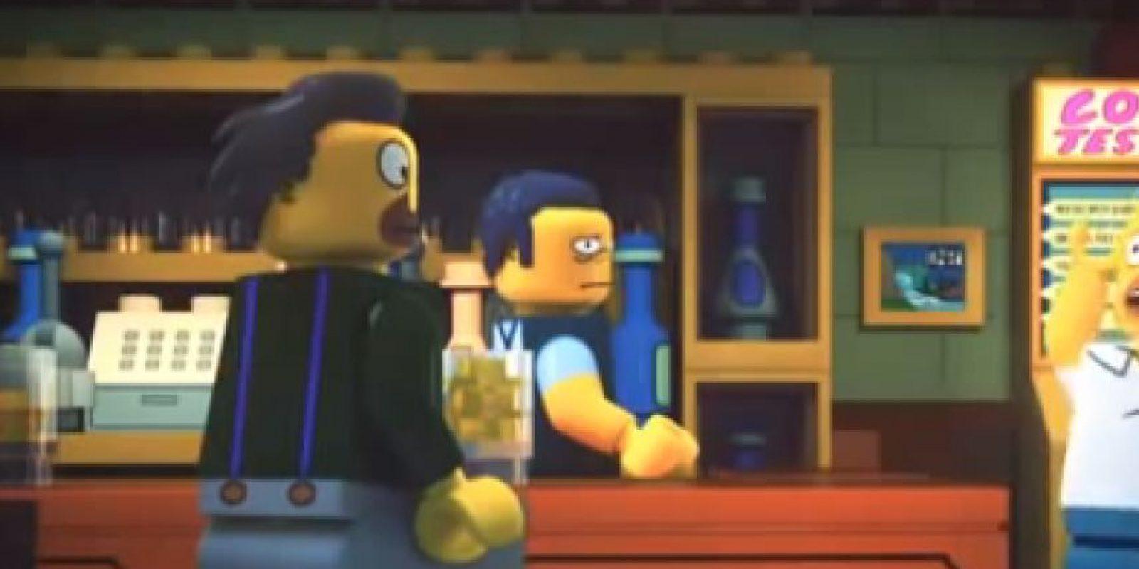 """""""Los Simpson"""" en su versión """"Lego"""" Foto:YouTube"""