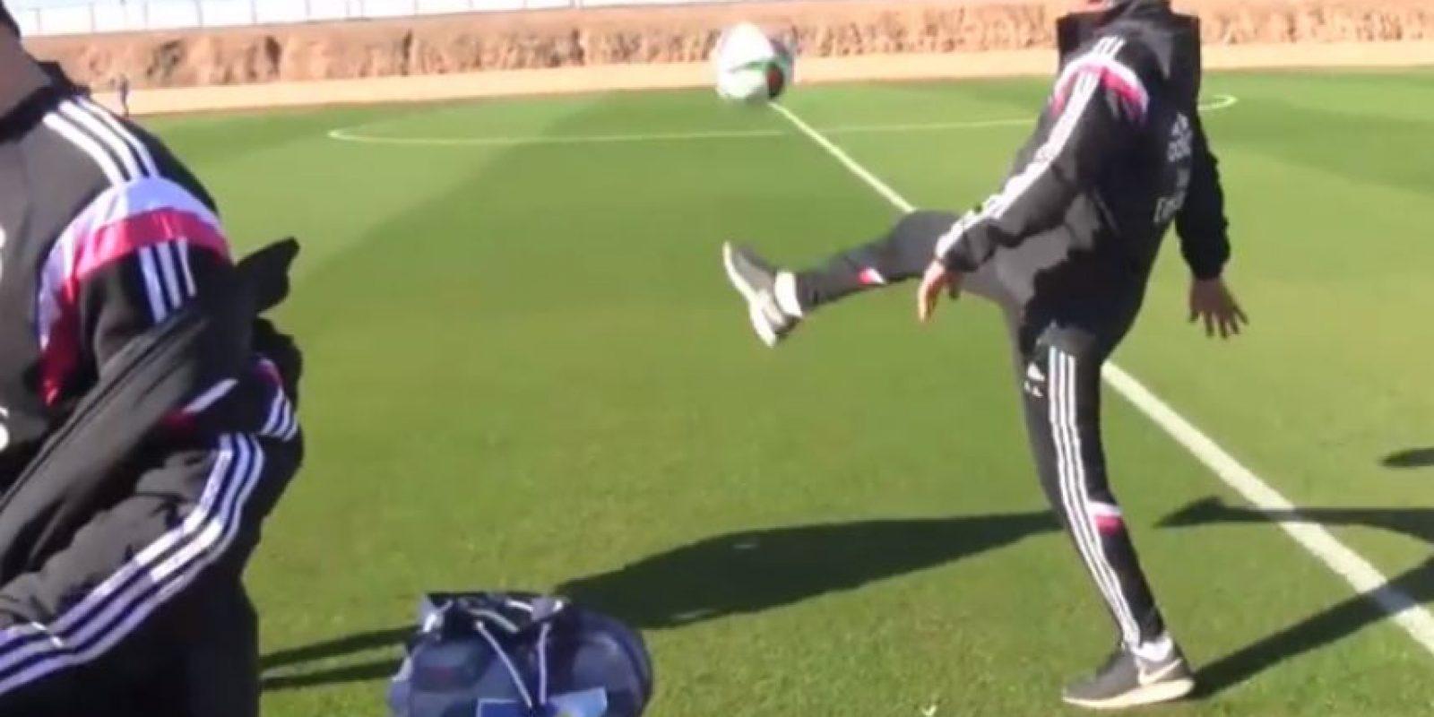 """El italiano indicó que puede dominar la bola de forma """"infinita"""" Foto:Youtube: Real Madrid C. F."""