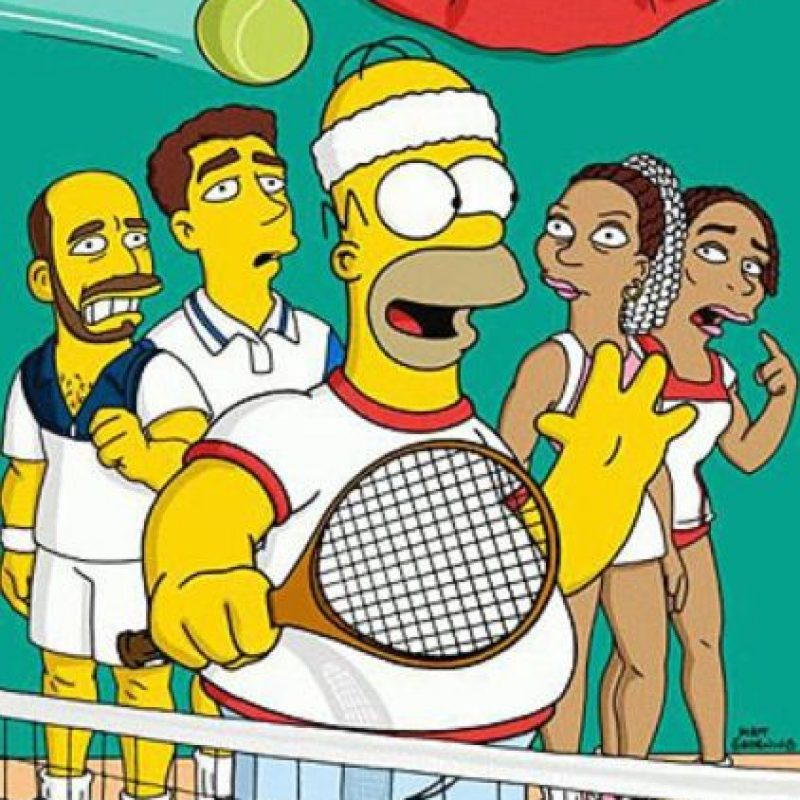 Pete Sampras, Andre Agassi, Serena Williams y Venus Williams. Foto:FOX