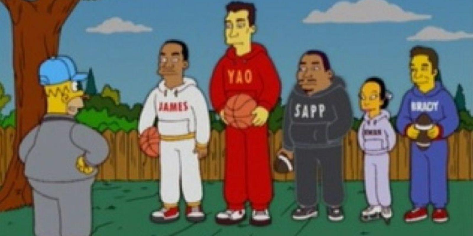 LeBron James, Yao Ming y otros deportistas. Foto:FOX