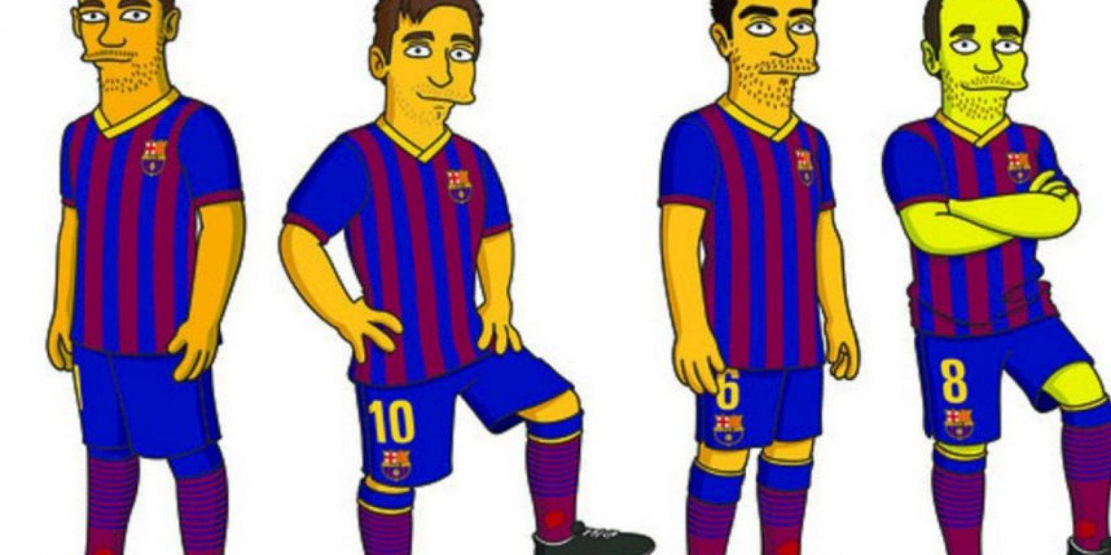 Jugadores del Barcelona de España. Foto:FOX