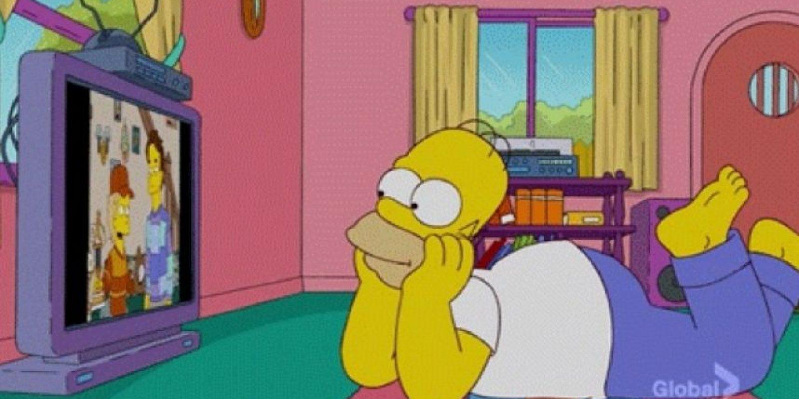 3. Espiar a parejas en la intimidad es aceptable Foto:Tumblr.com/Simpsons
