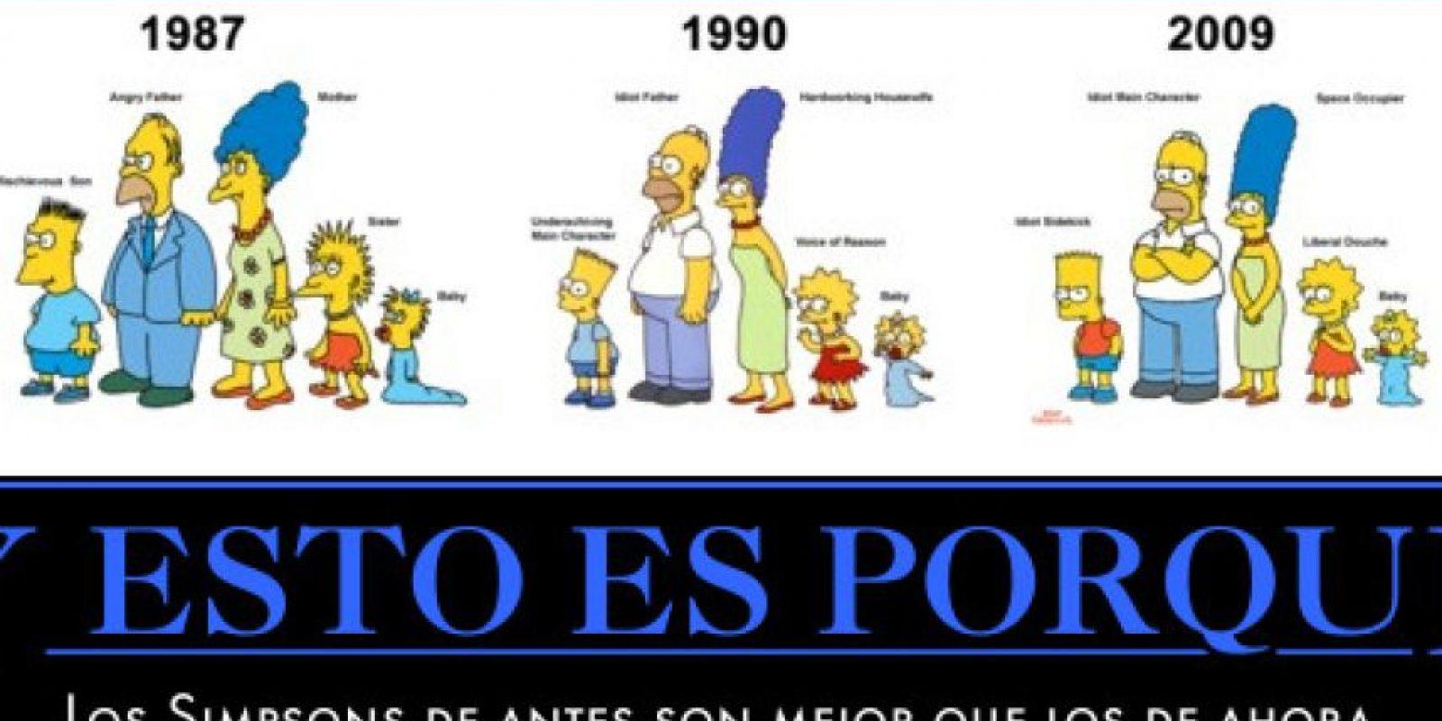 """Las primeras versiones de """"Los Simpson"""" Foto:Twitter"""