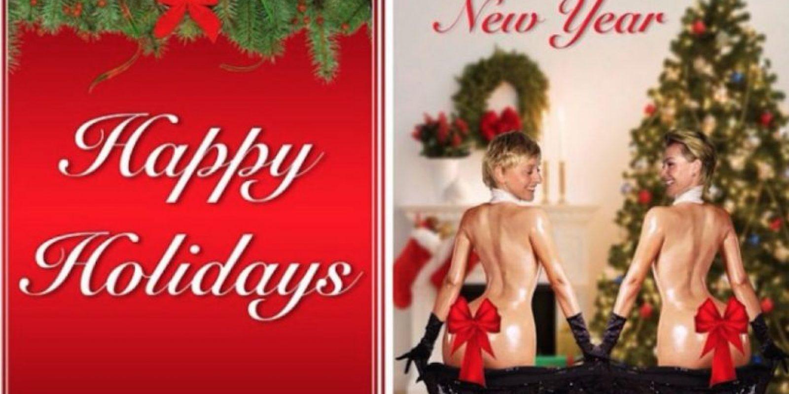 La tarjeta navideña de Ellen DeGeneres Foto:EllenDeGeneres/Instagram