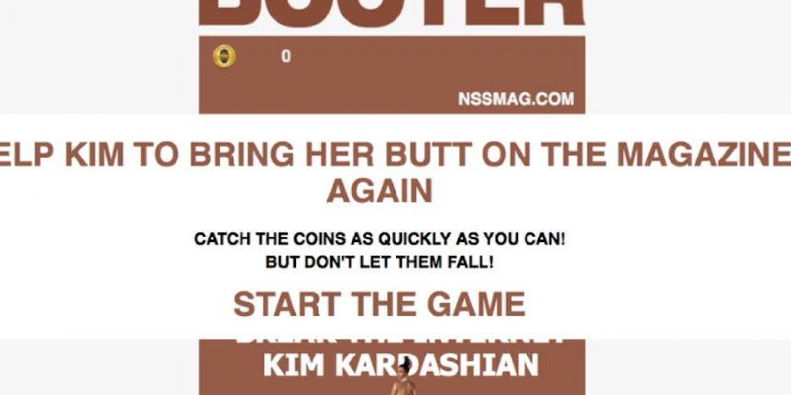 """""""Booter"""", el juego en línea para capturar monedas en el trasero de Kim Kardashian Foto:Booter"""