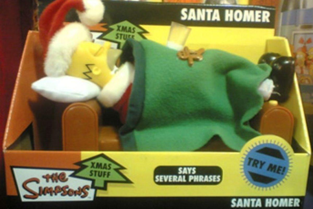 Homero disfrazado de Santa y dormido Foto:Tumblr.com/Tagged-Simpsons-raros