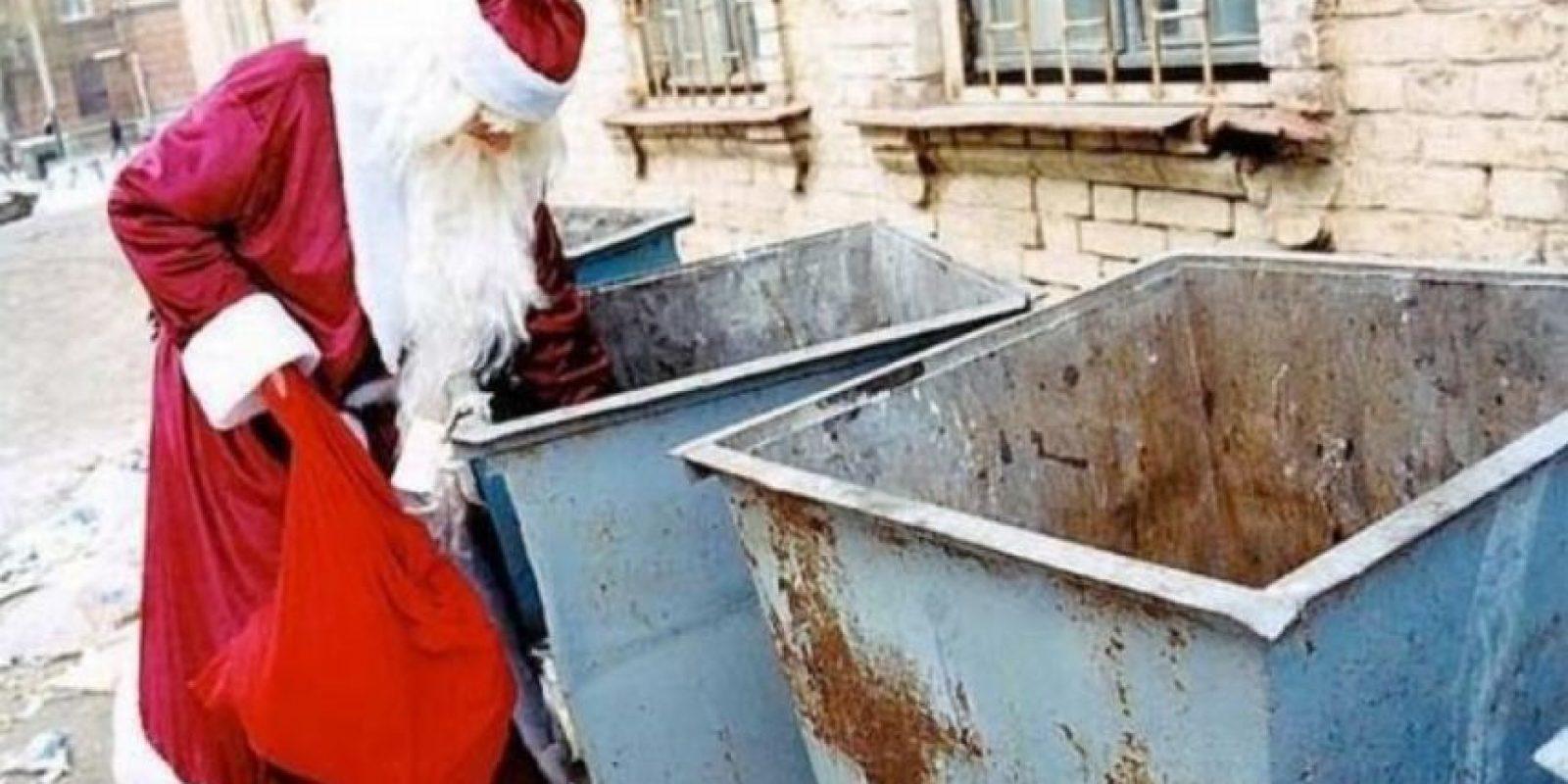 Es la escena más triste que podrían ver de Santa Foto:Tumblr.com/Tagged/Santa