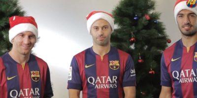 VIDEO: Así festejan los futbolistas del Barcelona el fin de año