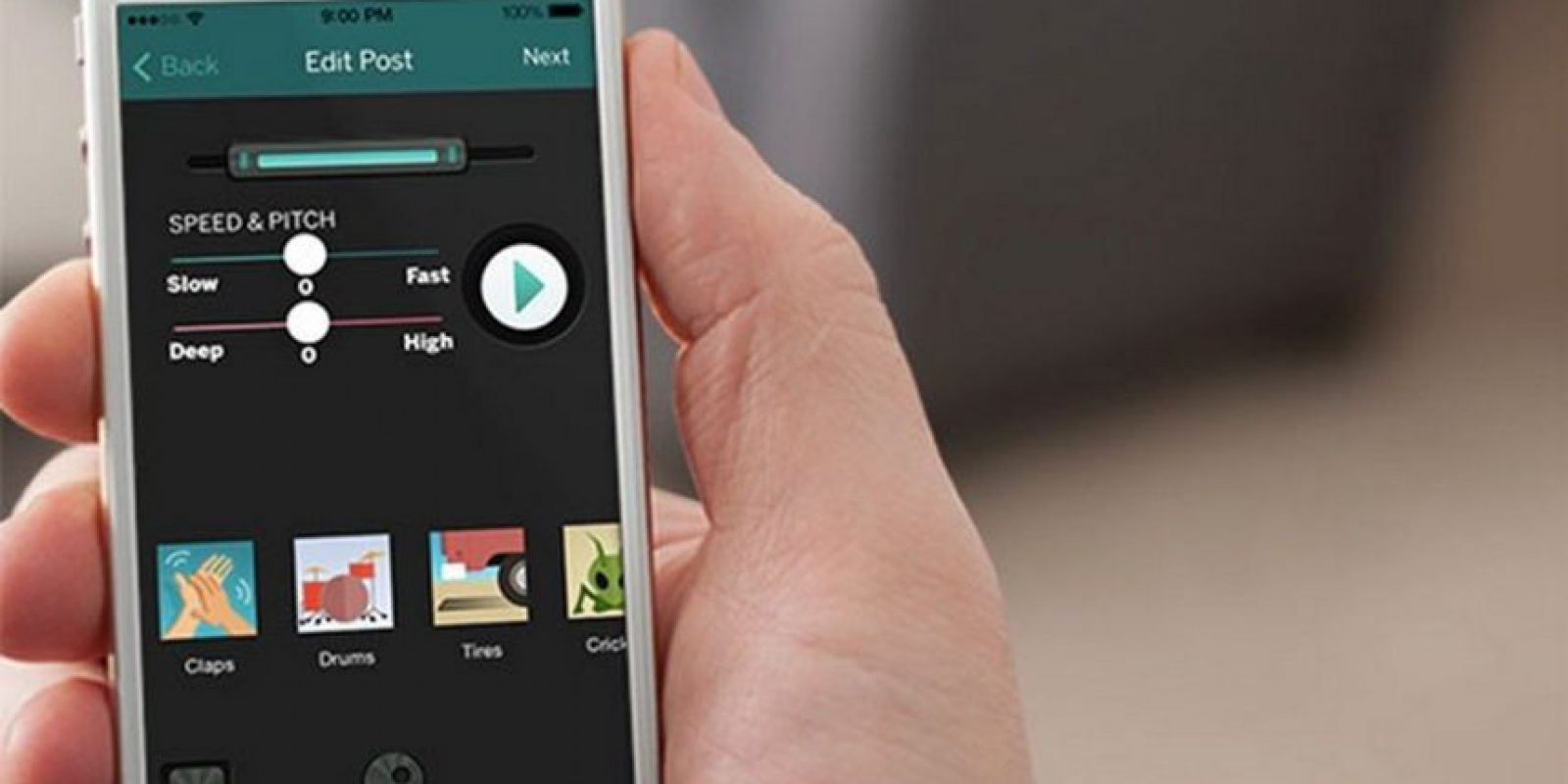Permite mensajes de voz de 10 segundos Foto:iTunes