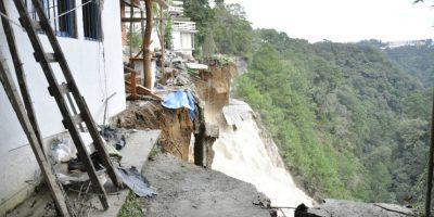 Las viviendas afectadas en la finca El Zapote. Foto:Conred