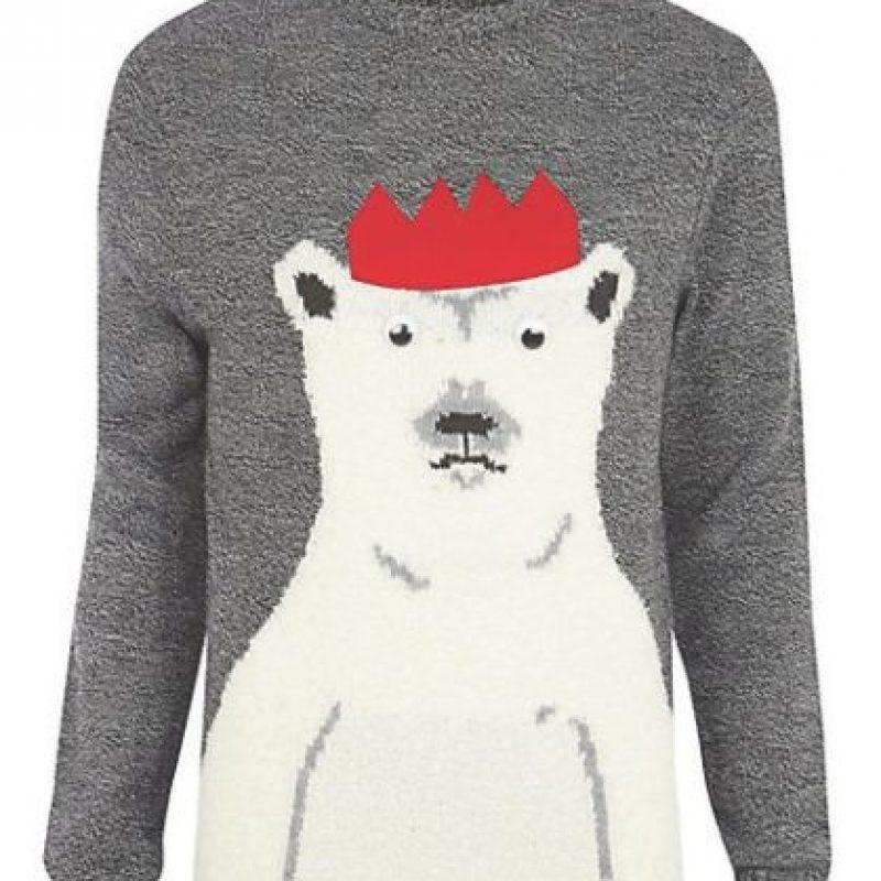 Suéter de Navidad con Oso Polar Foto:riverisland.com