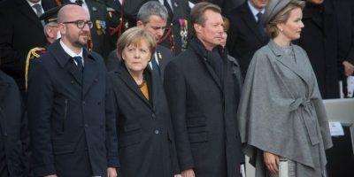 Con la canciller alemana Angela Merkel Foto:Getty Images