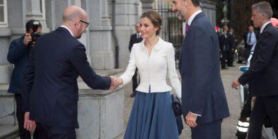 Con los Reyes de España, Felipe VI y Letizia Foto:Getty Images