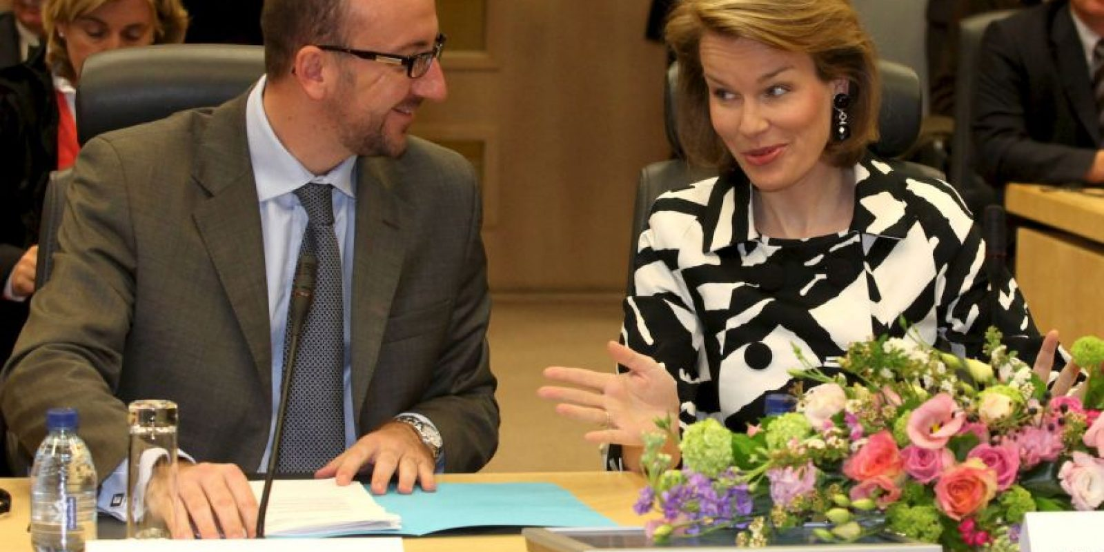 Con la Princesa Matilda, de Bélgica Foto:Getty Images