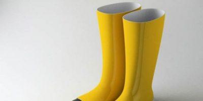 Las botas para la lluvia Foto:recreviral