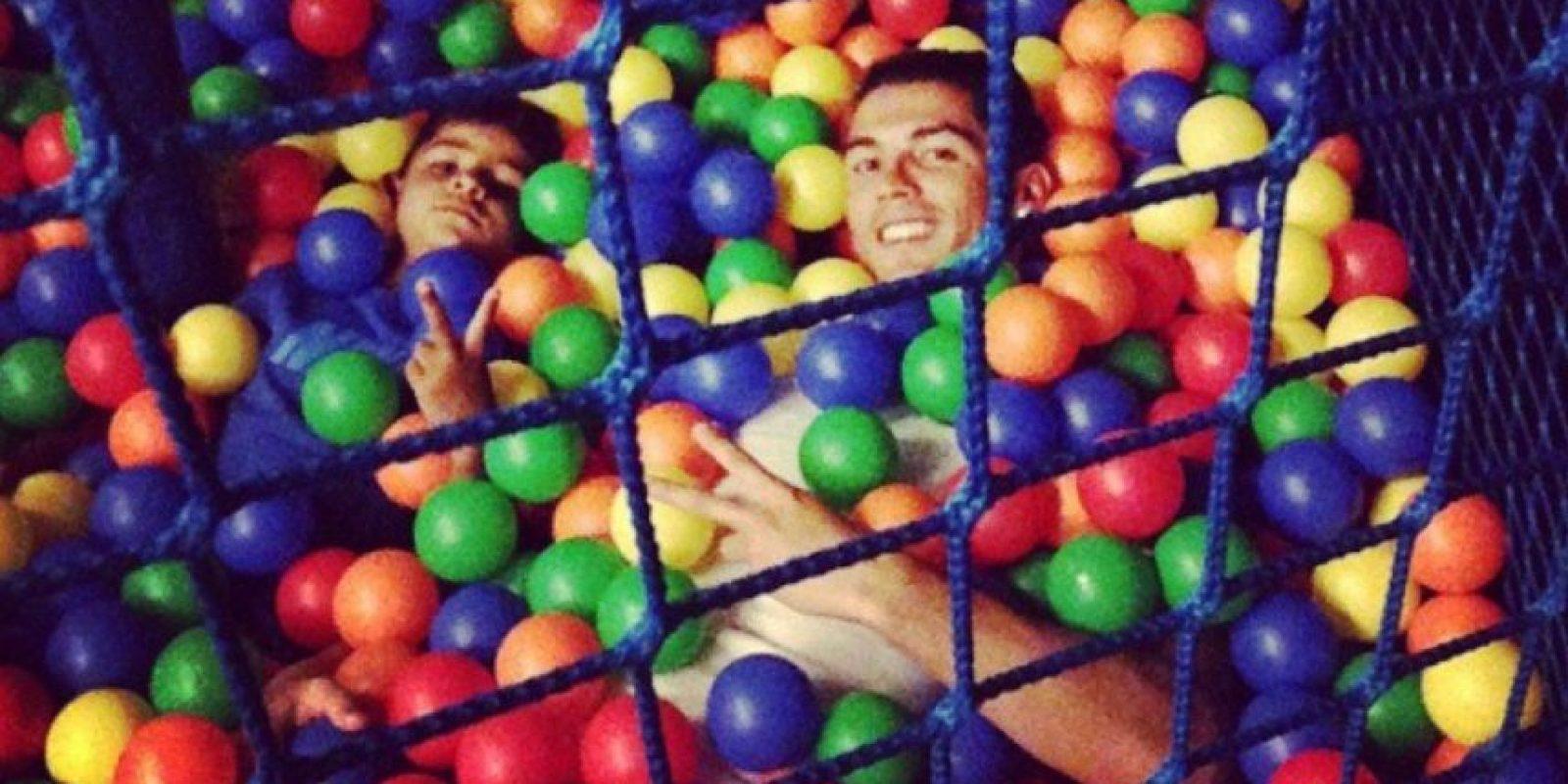 Una tarde de diversión entre Cristiano y su hijo. Foto:instagram.com/cristiano