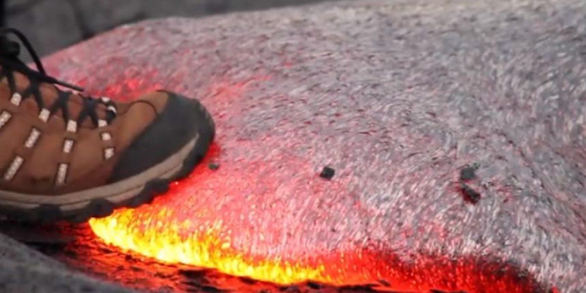 VIDEO: Esto es lo que pasaría si pisan lava