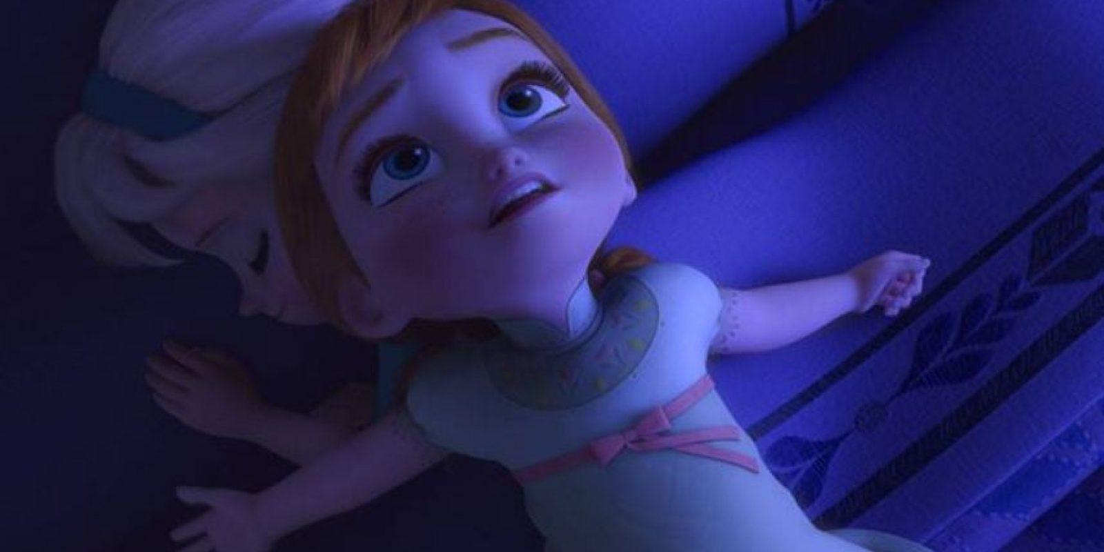 Anna usa la misma pijama cuando es niña y adulta Foto:Facebook/Frozen