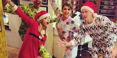 ¡En pijama! La moda de los famosos antes de la Navidad