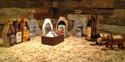 También algunas botellas. Foto:Imgur