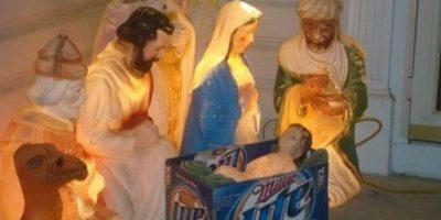 Jesús tiene una cuna muy especial. Foto:Imgur