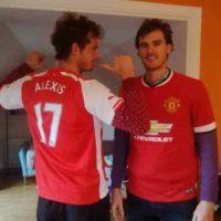 La rivalidad futbolística se hace presente en la familia Murray. Foto:twitter.com/jamie_murray