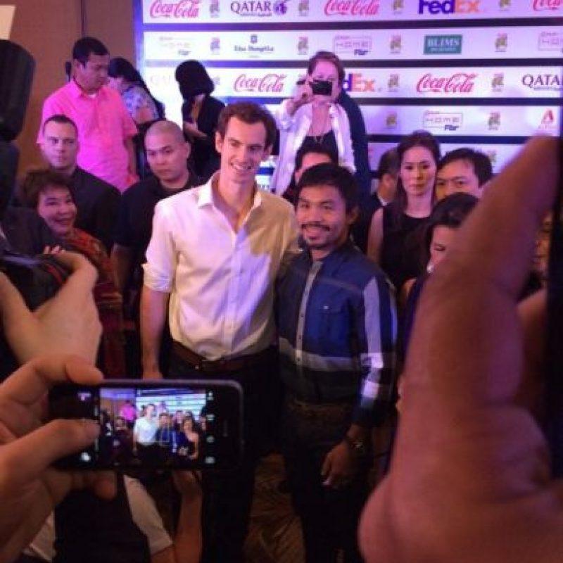 El tenista ya conoció al boxeador filipino Manny Pacquiao. Foto:twitter.com/andy_murray