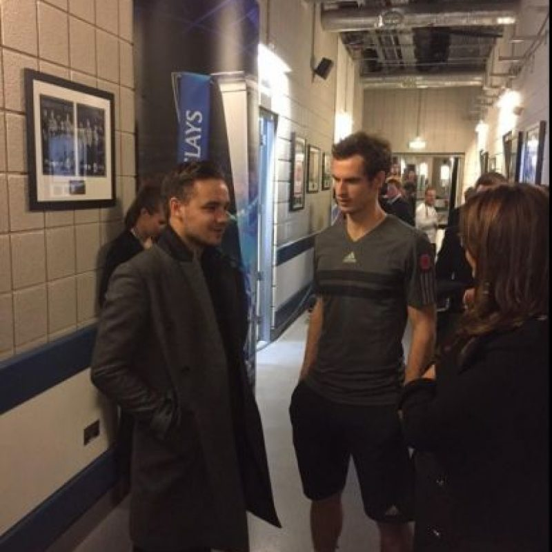 Liam Payne, de One Direction, y Andy Murray. Foto: twitter.com/andy_murray twitter.com/andy_murray