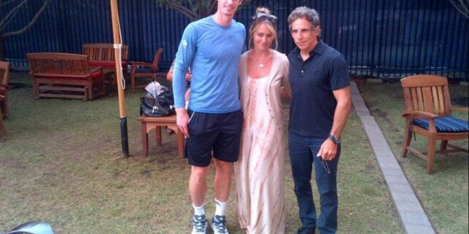 Murray conociendo a famosos actores como Ben Stiller. Foto: twitter.com/andy_murray
