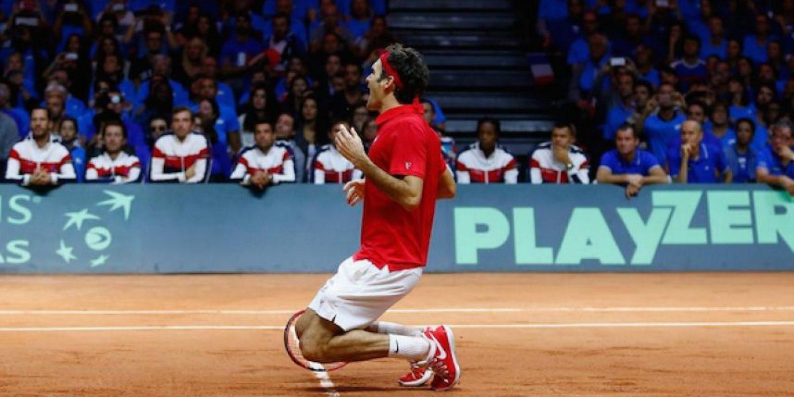 Roger Federer ganó con Suiza la Copa Davis, el único torneo importante que le faltaba en su exitosa trayectoria Foto:Getty