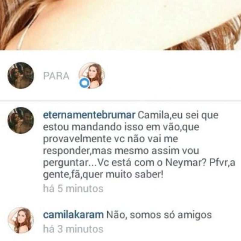 Camila asegura que solamente son amigos. Foto:instagram.com/camilakaram