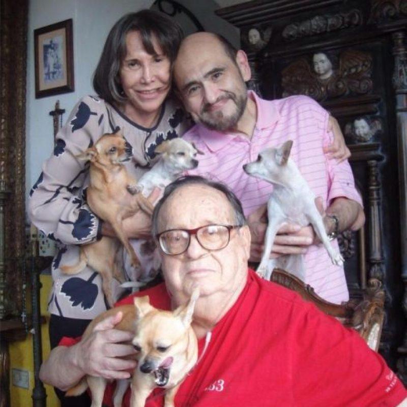 Florinda Meza, Edgar Vivar y Roberto Gómez Bolaños la última ocasión que se vieron. Foto:facebook.com/edgarvivaroficial