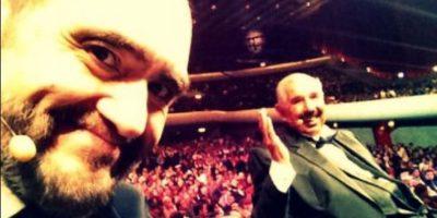 Edgar Vivar y Rubén Aguirre. Foto:facebook.com/edgarvivaroficial