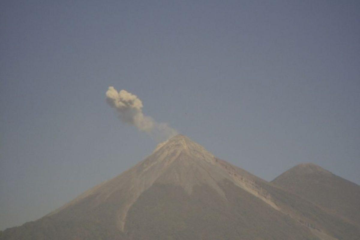 Alerta por actividad de volcán. Foto:Conred