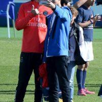 David Luiz siempre se muestra de buen humor. Foto:AFP