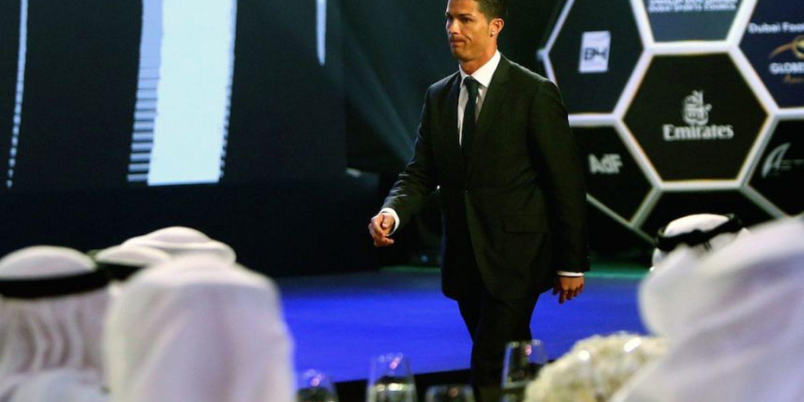 El portugués fue premiado en los Globe Soccer Awards. Foto:AFP