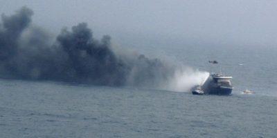 Varios pasajeros se encuentran heridos y se reportan ocho muertos Foto:AFP